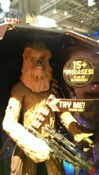 Chewie had 15 phrases?
