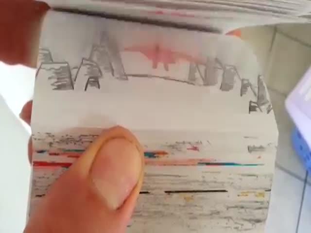 An Impressive Superhero Flipbook Animation of Superman vs. Goku  (VIDEO)