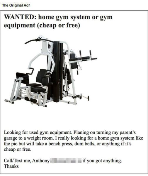 Dude Looking for Gym Equipment Gets Trolled Instead