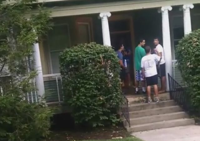 Guy Filming Break-in Gets Assaulted by Frat Bros