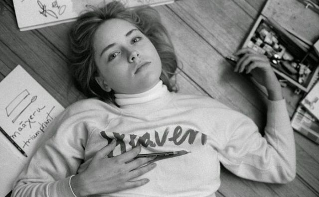 Young Sharon Stone Who Looks Beautiful in Black and White Photos