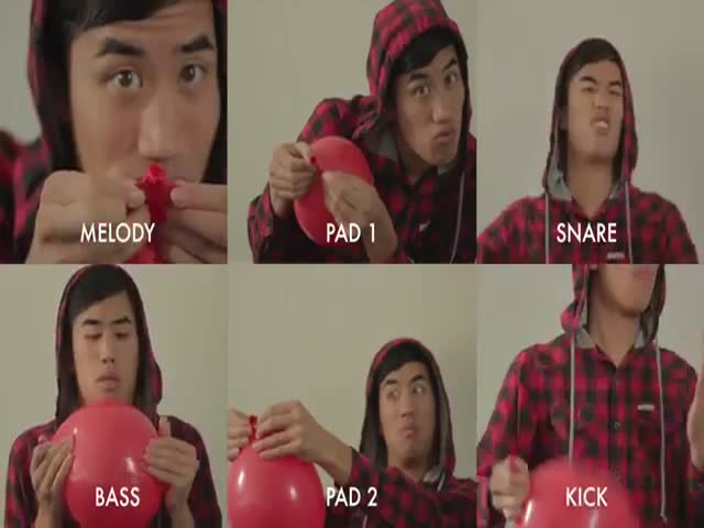 Guy Covers '99 Red Balloons' Using Nothing But Red Balloons