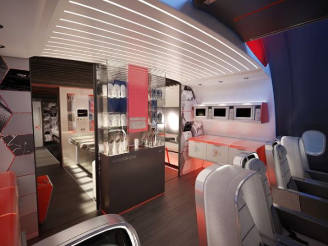 An Aircraft Interior Designed Specifically for Pro Athletes