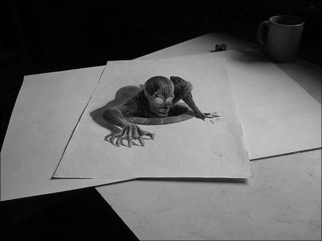 Spectacular 3d Pencil Drawings That Are Mindblowing 32