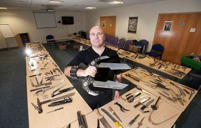 A Varied Collection of Weapons Surrendered by UK Citizens