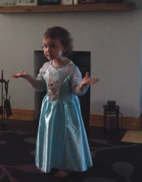 2-Year-Old Irish Girl Is Mad at Her Parents for Laughing during Her Frozen Performance