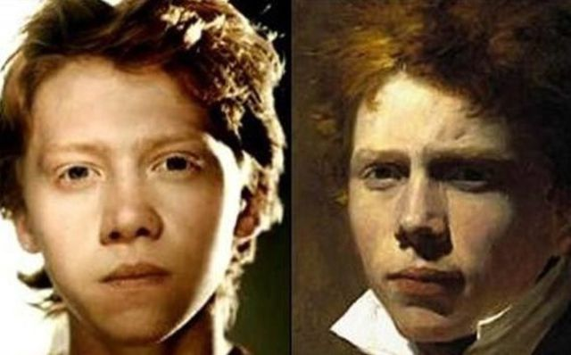 Famous Faces and Their Real-Life Historical Dopplegangers