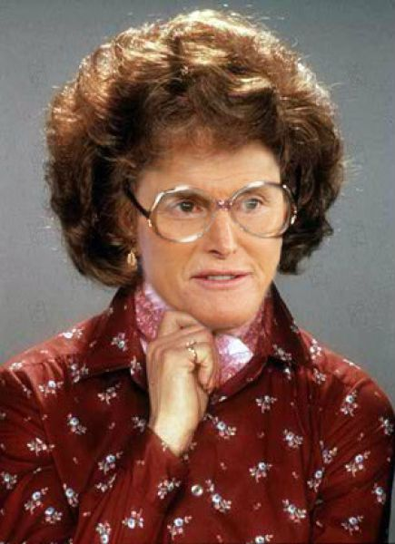 Is it just me or does Bruce Jenner look like he is slowly turning into Tootsie ?