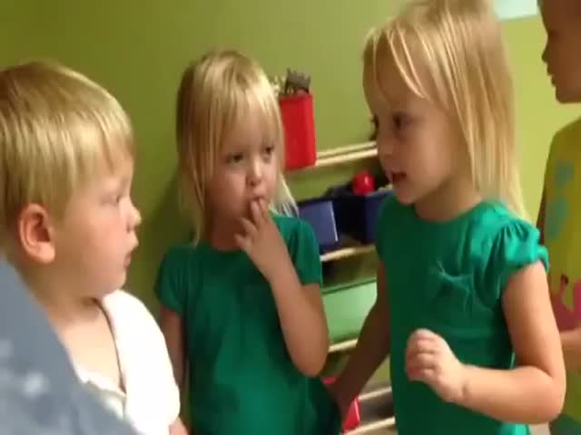 Adorable Children's Argument