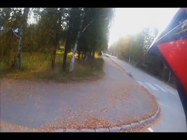 Finnish Teen Tries to Outrun Police Officer after Being Caught Doing Wheelies  (VIDEO)