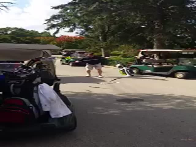 Golfer's Meltdown Caught on Camera after Frustrating, Bad Performance