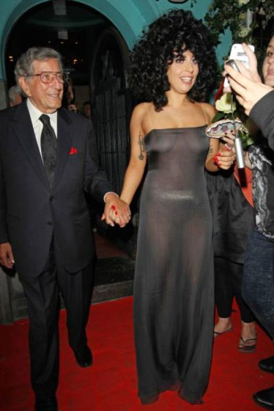 Lady Gaga Forgets Her Bra at Home on a Night Out in Belgium