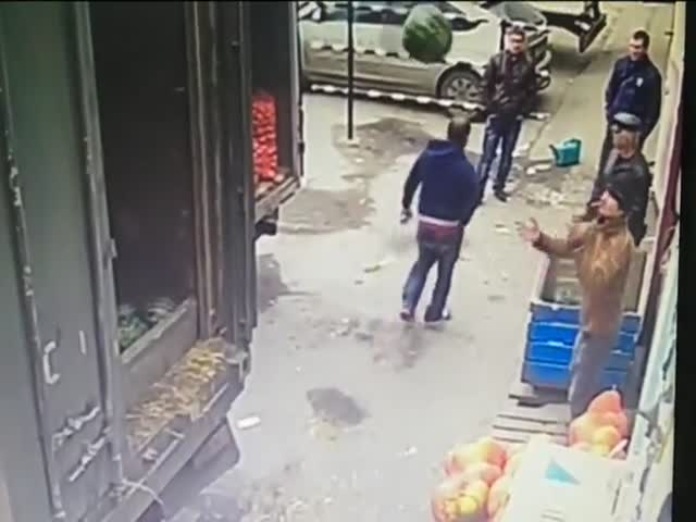 Unloading Watermelons Gone Wrong  (VIDEO)