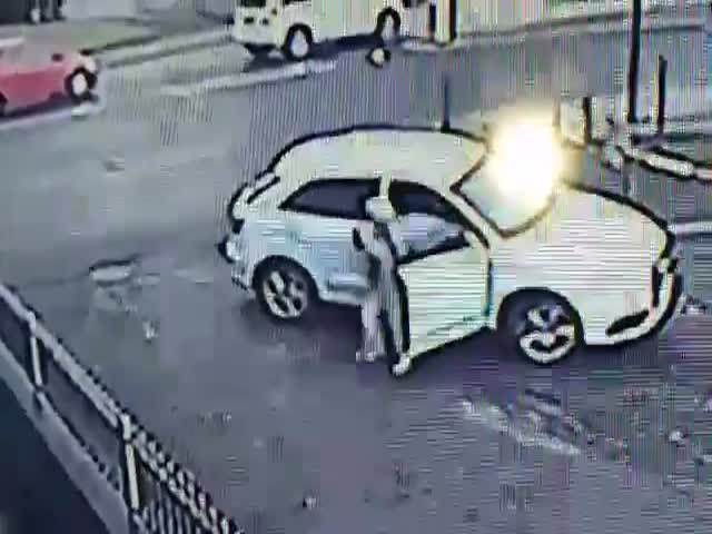 Brave Woman Fights Off Car Thief