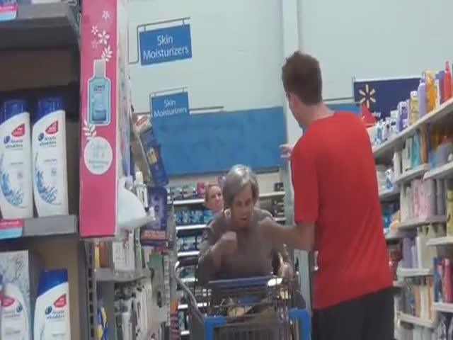 Harmless Prank Causes Old Woman to Question Her Own Sanity  (VIDEO)