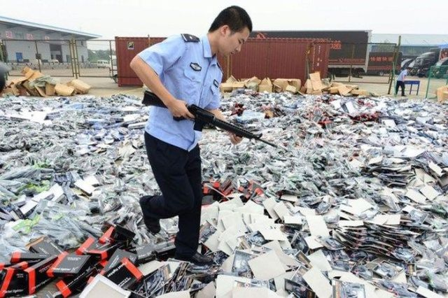 A Dumping Ground for Seized Weapons in China