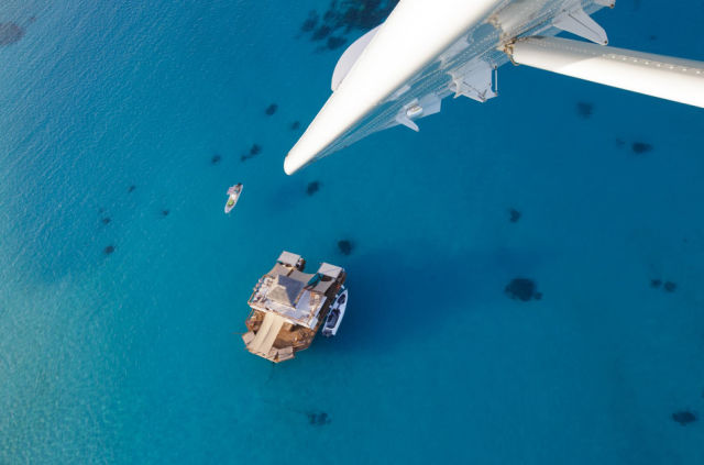 An Awesome Floating Bar in the Middle of the Ocean