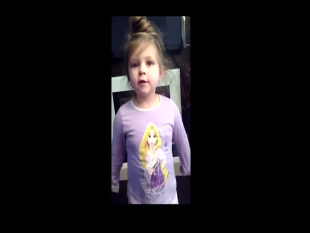 Little Girl Struggles to Sing Nursery Rhyme with Her Dad
