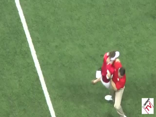 Ohio State Coach Body Slams Fan Streaker