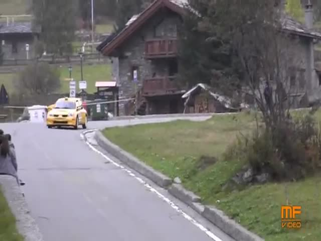 Spectators Lucky to Be Alive after Crazy Rally Car Crash