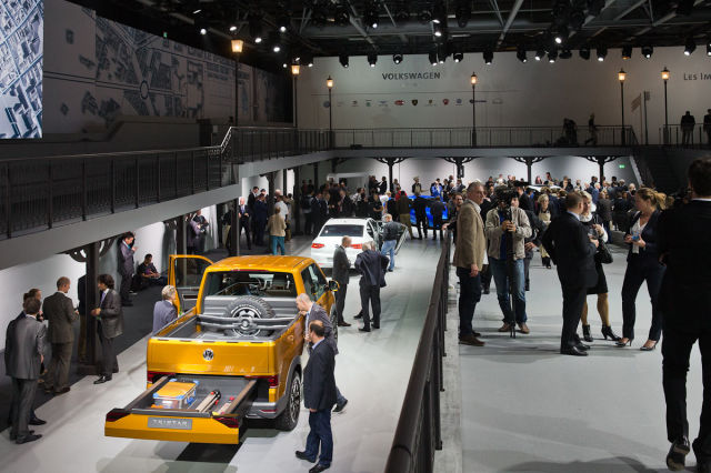 Assortment of Cars on Display at the Paris Motor Show
