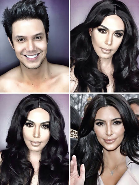 The Man Who Is Becoming a Pro at Celebrity Makeup Transformations