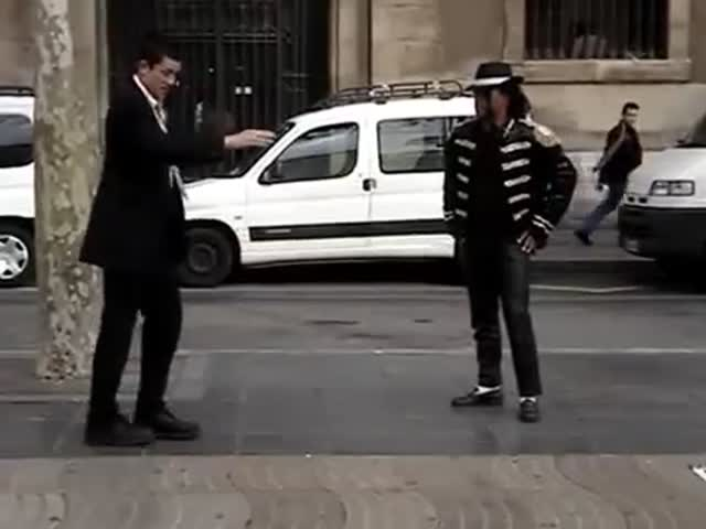 Impromptu Dance-Off between Mormon Missionary and Michael Jackson Impersonator