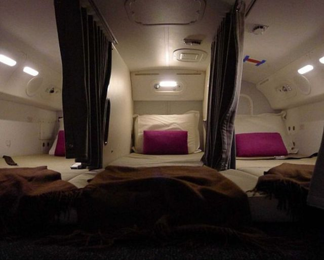 Boeing Aircraft Crew Members Get to Relax in Style and Comfort