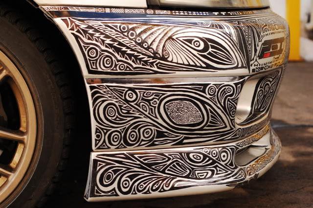 Guy Lets a Friend Do Lavish Sharpie Art on His Car