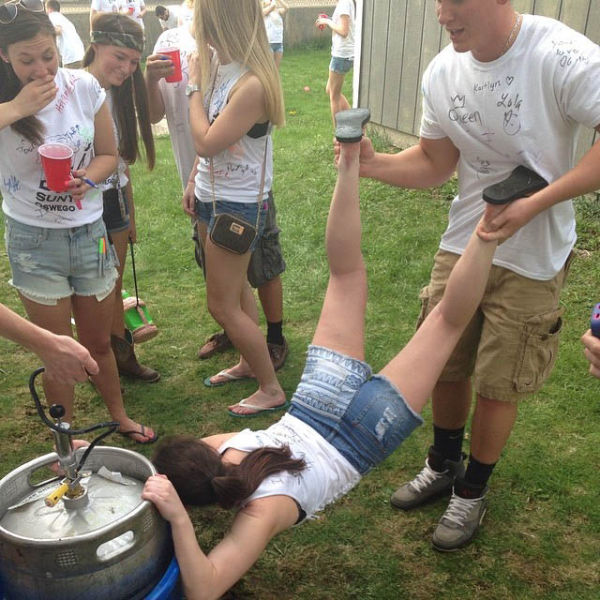 Party Girls Getting a Little Out of Hand
