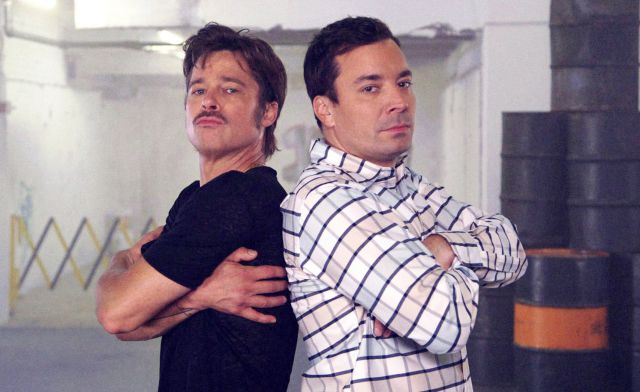 Brad Pitt and Jimmy Fallon Have a