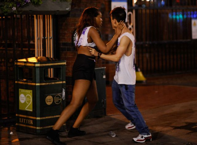 British Young Drinkers Get Raunchy and Wild on the Streets
