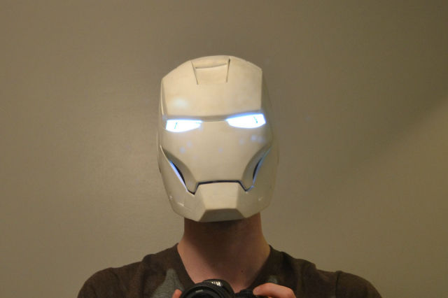 A Self-Made Iron Man Helmet That You Can Actually Wear