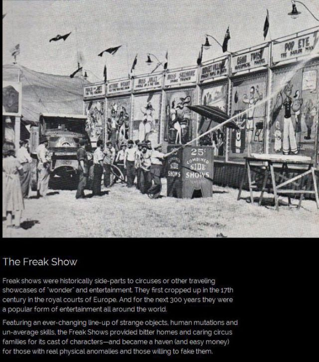A Look at American Freak Shows Throughout Time