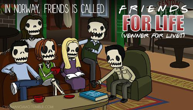 Hilarious Translations of American TV Show Names in Illustration