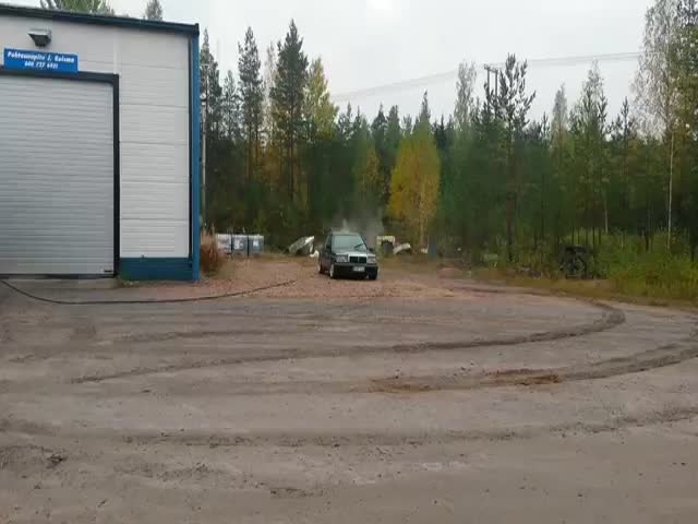 Car vs Tank Cleaning Unit  (VIDEO)