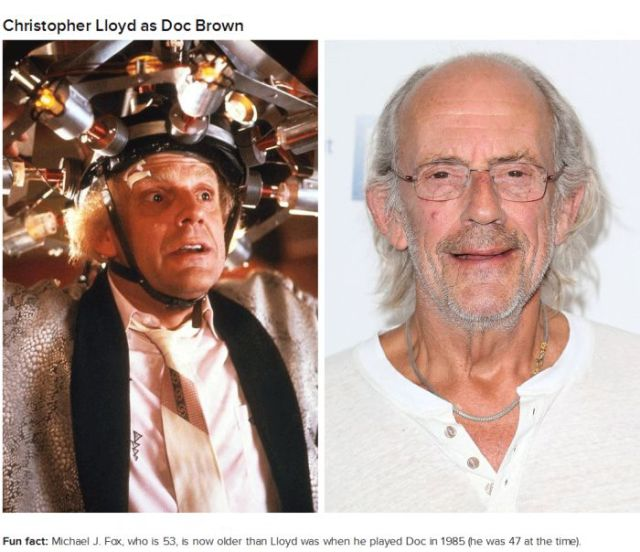 "The ""Back to the Future"" Cast Members Then and Now"
