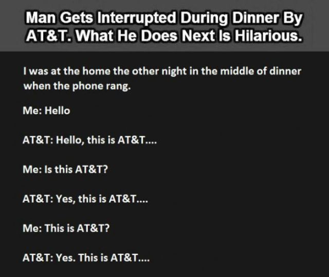 Guy Pulls an Hilarious Prank on an AT&T Telemarketer