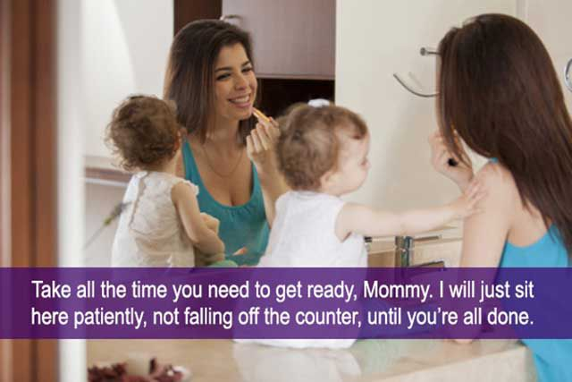 Moms Give Stock Photos a Reality Check with Funny Captions
