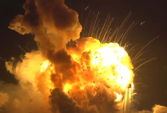 The Unmanned Antares Rocket from NASA Blew Up Just After Liftoff