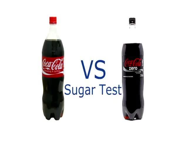 Coca Cola vs Coca Cola Zero: The Sugar Test  (VIDEO)