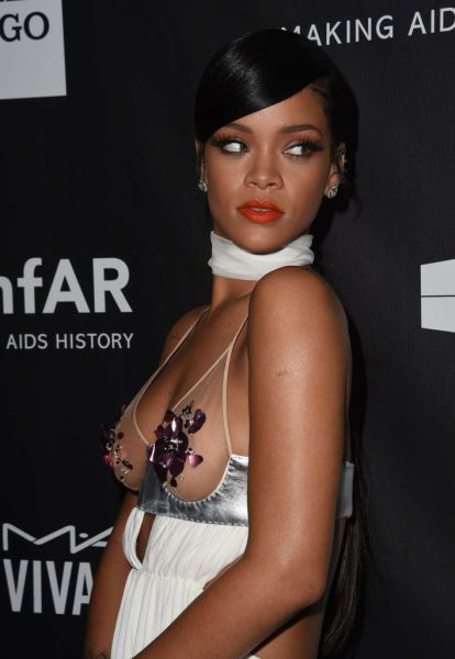 Rihanna and Miley Cyrus Show Off in Their Revealing Fashion Choices