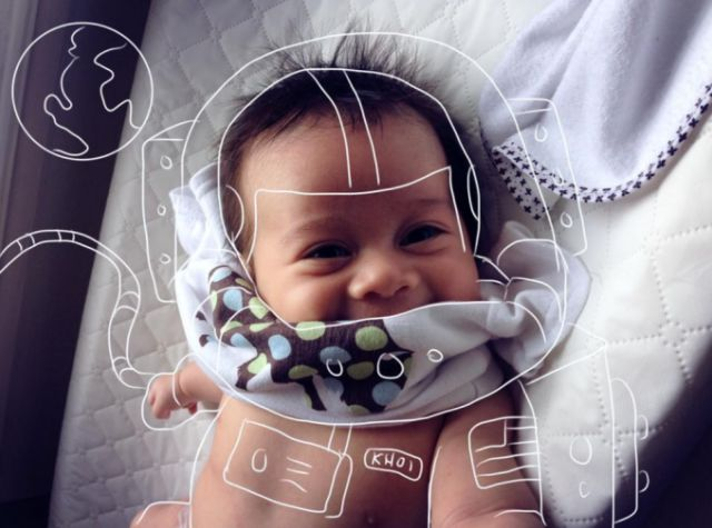 Creative Dad Adds Clever Doodles to the Pictures of His Son