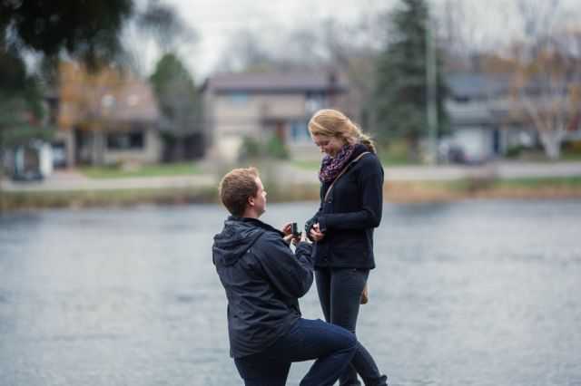 A Sneakily Smart Engagement Photo Shoot