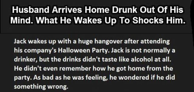 One Drunk Husband's Perfectly Timed Response