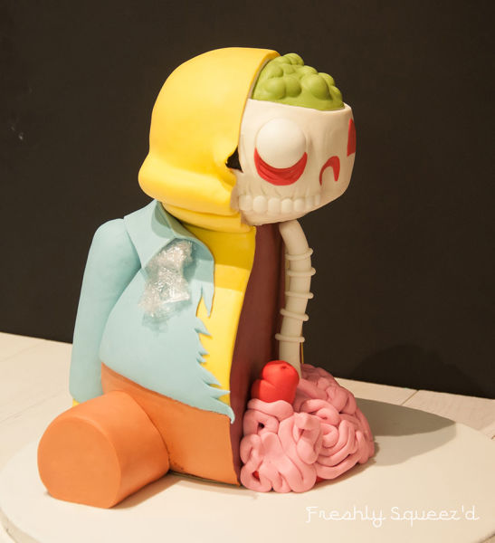 A Masterful Handmade Simpson's Character Cake