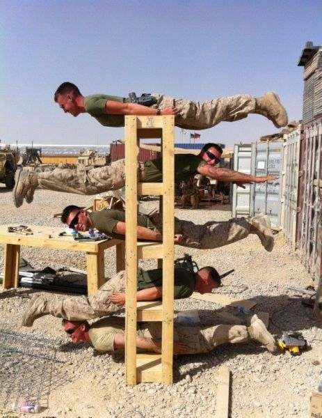 Soldiers Enjoy a Little Downtime