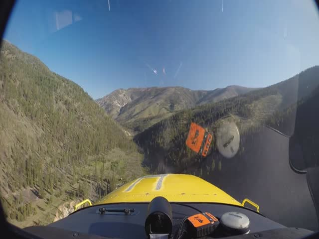 Landing a Plane in the Middle of a Forest Up in the Mountains