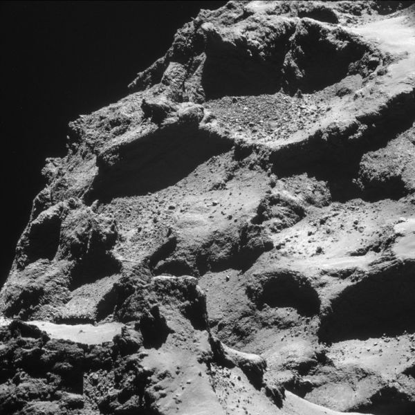 The Rosetta Probe Lands on a Comet after 10 Years