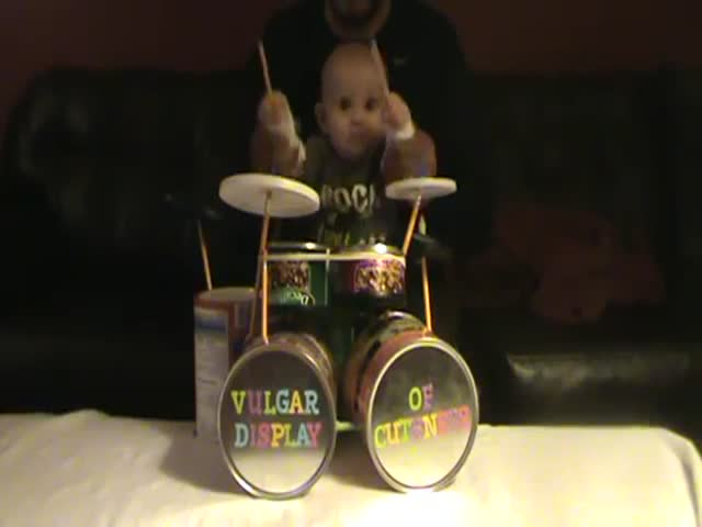 Adorable Baby Drummer Rocks Out to Pantera